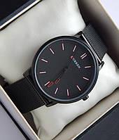 Оригинальные мужские кварцевые наручные часы Curren  на кольчужном ремешке