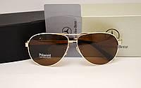 Мужские солнцезащитные очки Mercedes Benz 13018 золото