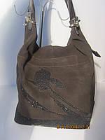 Женская сумка из натурального замша Meglio