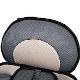 Портативное бескаркасное детское автокресло (коричневое с бежевым), фото 4