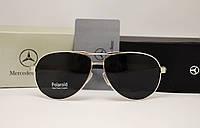 Мужские солнцезащитные очки Mercedes Benz 13018 серебро