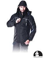 Куртка зимняя рабочая с сигнальными вставками (утепленная рабочая одежда) LH-BLACKOR B