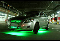 Подсветка днища авто—зеленая! Водозащитная!