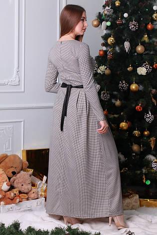 Красивое нарядное теплое платье длиной в пол, фото 2