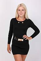 Короткое черное платье-туника