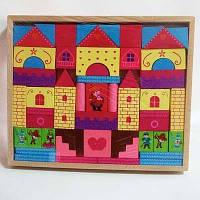 Деревянная игрушка кубики конструктор