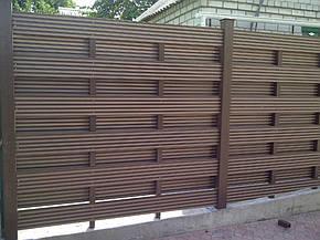 Декоративная панель из ДПК Tardex терракот, фото 2
