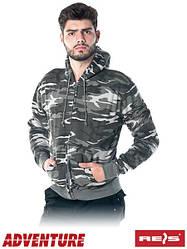 Кофта с капюшоном камуфляжная рабочая REIS Польша (спецодежда свитер с капюшоном) CORTEX MO