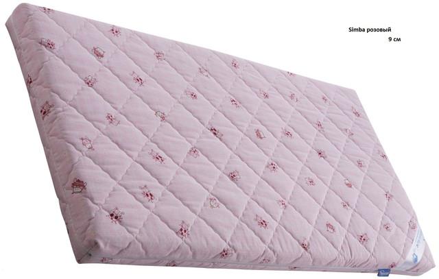 Матрас детский Симба Латекс Кокос, розовый высота 9 см