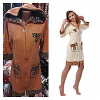 Турецкий халат велюровый женский