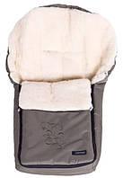 Конверт зимний  на овчине с вышивкой (хаки)WOMAR