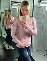 Женский модный джемпер  (свитер) с люрексовой нитью (Турция) (3 цвета)
