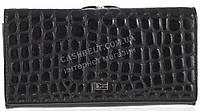 Стильный лаковый женский кожаный кошелек под рептилию высокого качества COZZNEE art. T906 516661 черный, фото 1
