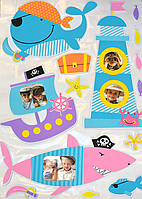 "3D наклейки на стену ""Пираты"" 50×70 см"