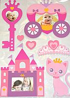 """3D наклейки на стену """"Замок принцессы"""" 50×70 см Bambi"""