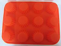 Силиконовая форма для кекса, 32*24*3,4 см., 125/115 (цена за 1 шт. + 10 гр.), фото 1