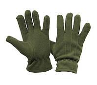 Перчатки флисовые хаки однослойные