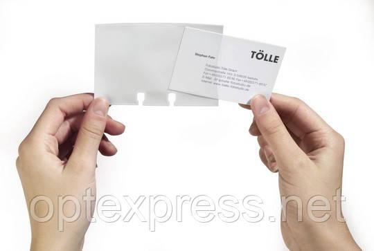 Набор 40 прозрачных карманов для визитных карточек для визитниц DURABLE 2418