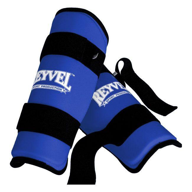 Защита голени REYVEL винил (синяя)