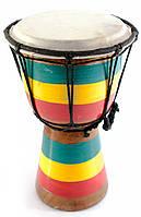 Барабан ручной Раста дерево с кожей
