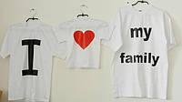 Рисунок на футболку для семьи