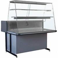 Вітрина холодильна настільна+стаціонарна РОСС BARI К-1,2 пряме скло