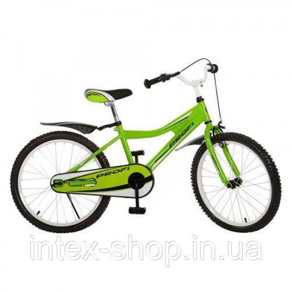 Детский велосипед двухколесный 20BA494-3 зеленый 20 диаметр