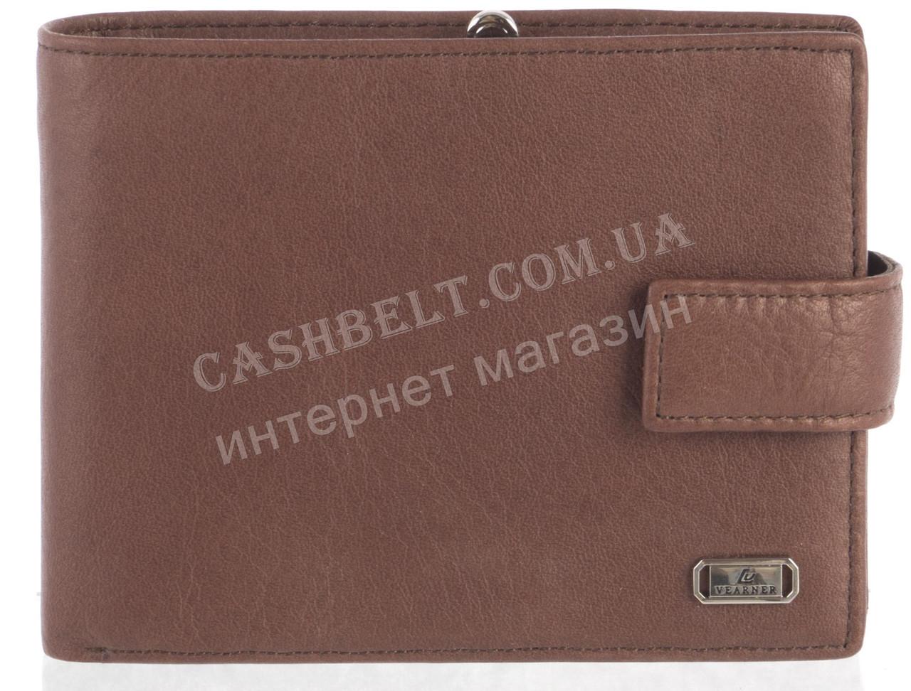 Мужской стильный классический бумажник портмоне с натуральной кожи LOUI VEARNER art. LOU-3852M коричневый