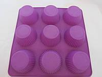 Силиконовая форма для кекса 22,5*22,5 см, Гл -3,5 см., 100/90 (цена за 1 шт. + 10 гр.), фото 1