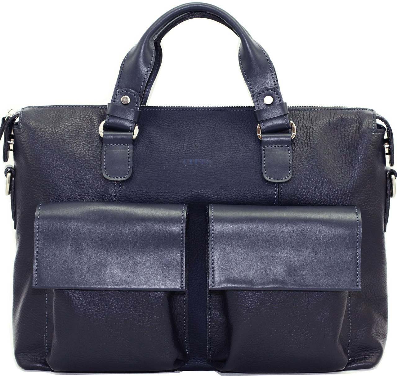 Кожаный мужской портфель Mk25 синий