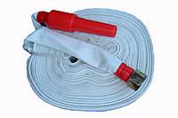 Кран-комплект Ду25мм с плоскоскладываемым пожарного рукава и стволом