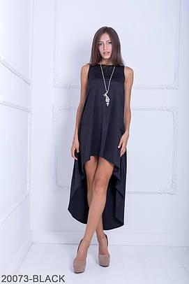 Оригінальне асиметричне чорне плаття Sansy