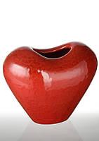 """Ваза керамическая """"Пламя"""" (красная, 21.5x12.5x18  см) ETERNA ZD8595M12-8.5"""