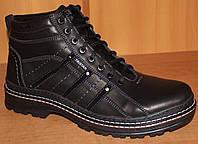 Ботинки мужские кожаные зимние на шнурках, мужские ботинки зимние кожаная от производителя модель ТЛ725
