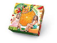 Мягкий надувной пуфик Апельсин Fruit Pouf Danko Toys FP-01-02