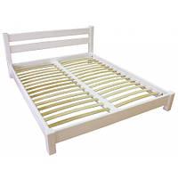 Двуспальная кровать «Снежка» из натурального дерева
