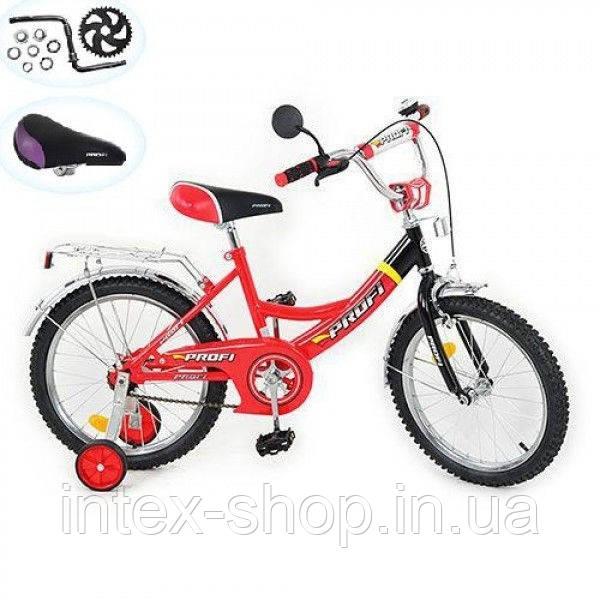 Детский двухколесный велосипед 18 дюймов (арт. P 1841) красный