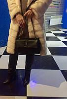 Теплые женские зимние сапоги на каблуку натуральная кожа, внутри шерсть до щиколотки. Цвет черный