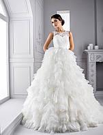 """Замечательное свадебное платье силуэта """"Принцесса"""" с чарующей юбкой из лоскутков с тонкой сетки"""