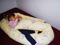 Подушка Maxi для беременных - детская расцветка, (полистироловые шарики)
