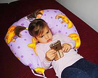 Подушка для кормления с завязками - детская расцветка (полистироловые шарики)