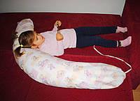 """Подушка """"Банан"""" с завязками - детская расцветка (полистироловые шарики)"""