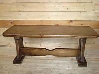 Скамья садовая, деревянная мебель для дачи Деревенская, фото 1