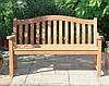 Скамья садовая, деревянная мебель для дачи Ритм со спинкой