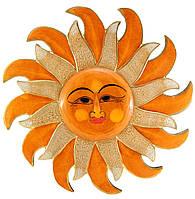 Резное панно настенное деревянное Солнце
