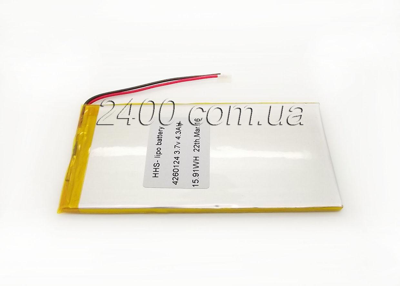 Аккумулятор 4300мАч 4260124 мм 3,7в универсальный для планшета 3.7v 4,2*60*124 (4300mAh)