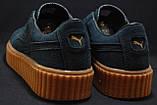Мужские замшевые синие криперы в стиле Puma Rihanna, фото 5