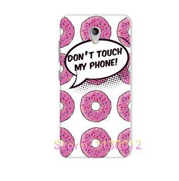 Оригинальный чехол панель накладка для ZTE Blade A510 с картинкой Розовые пончики