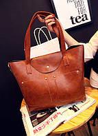 Набор женских сумок, сумка и клатч.