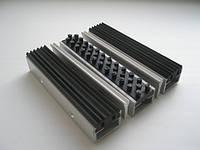 Придверная грязезащитная решетка «ЛЕН» резина+щетка, 1000х1000мм
